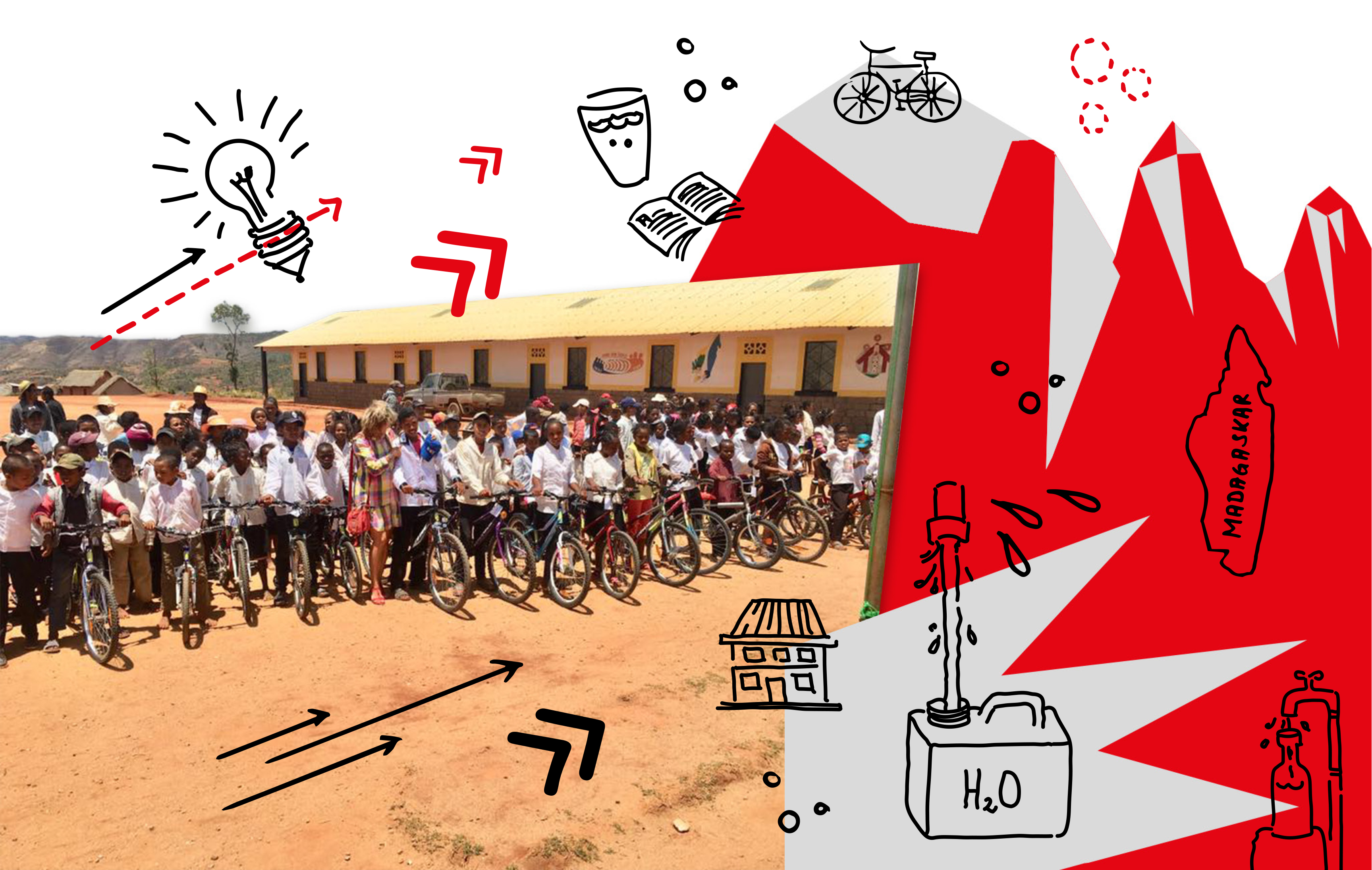 For these children in Madagascar, having a bicycle makes it easier to go to school
