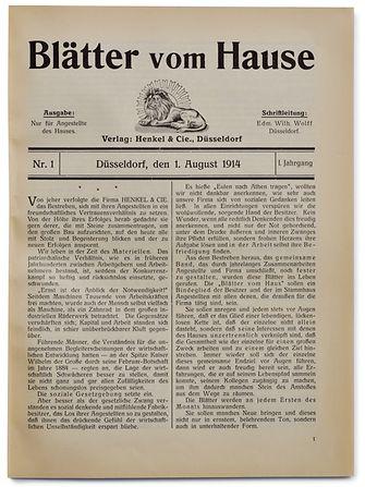 """Erstausgabe der """"Blätter vom Hause"""", 1914"""