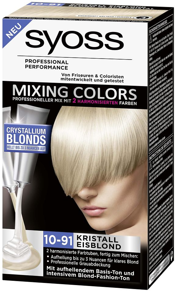 Syoss Mixing Colors Crystallium Blonds 10-91 Kristall Eisblond