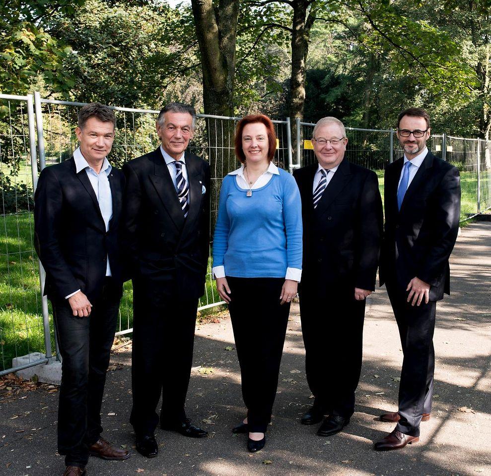 Volker Vogel, Wolfgang Rolshoven, Kirsten Sánchez-Marín, Christian Diedrich und Klaus Heiermann