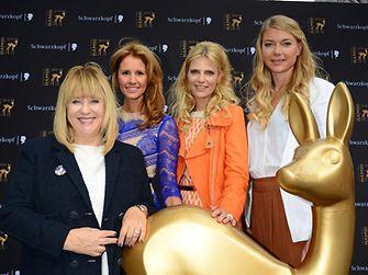 Patricia Riekel, Mareile Höppner, Tanja Bülter und Susanne Klier (Henkel Beauty Care)