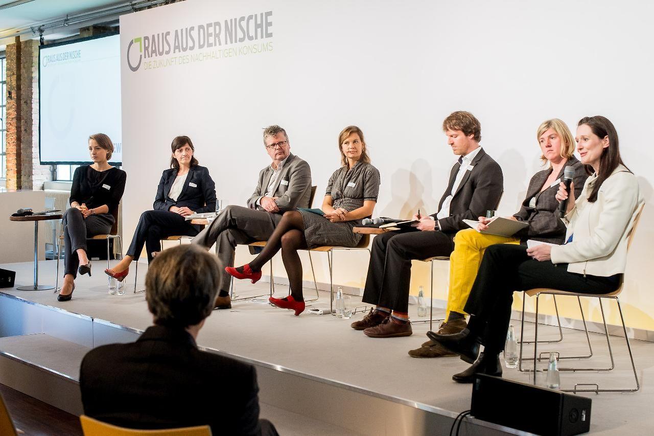 Eine der insgesamt fünf Diskussionsrunden befasste sich mit produktbezogener Nachhaltigkeitskommunikation.