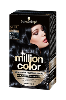 Million Color 1-1 Blau-Schwarz