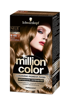 Million Color 6-65 Helles Schokobraun