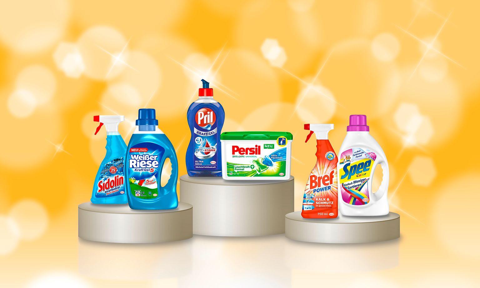 """Gleich sechs Wasch- und Reinigungsmittel von Henkel wurden von Verbrauchern mit dem begehrten Titel """"Produkt des Jahres 2015"""" ausgezeichnet."""