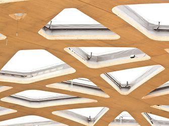 Die Dachstruktur lässt viel Licht ins Innere des Elefantenhauses.