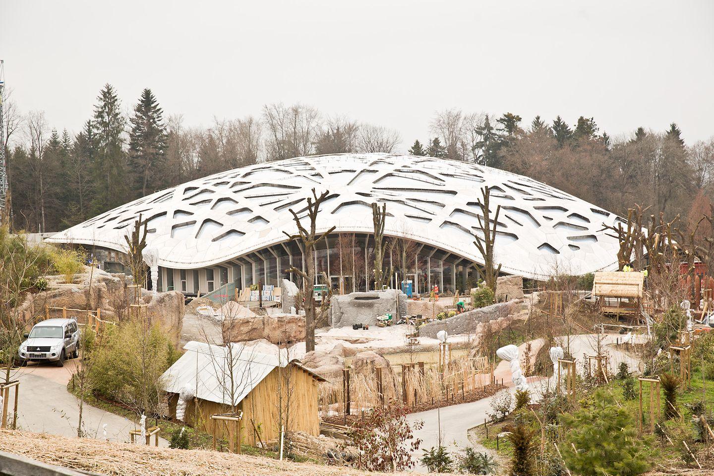 Das neue Züricher Elefantenhaus ist ein architektonisches Highlight.