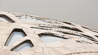Das Dach des Elefantenhauses von außen.