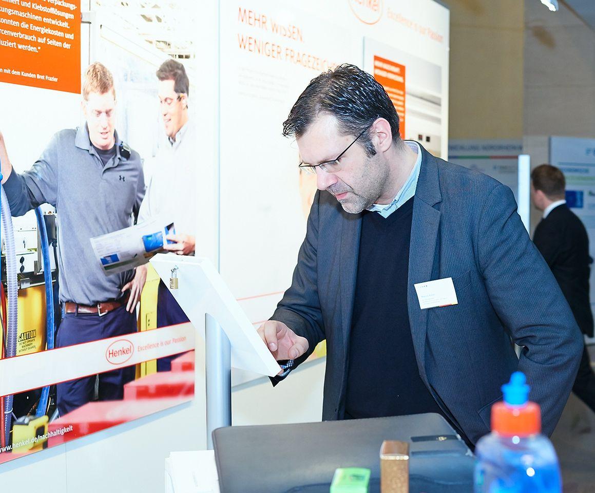 Am Henkel-Stand konnten sich die Besucher ein Bild von der Nachhaltigkeitsstrategie des Unternehmens machen.
