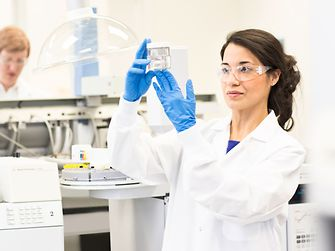 Female employee in a laboratory
