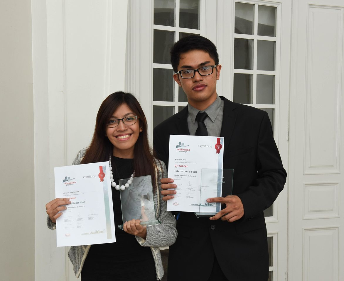 The team from the Philippines, Christine Darla Bautista and Marco del Valle, won the second prize