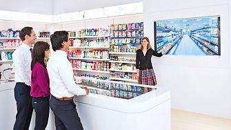 Virtuelle Supermarkt im Global Experience Center