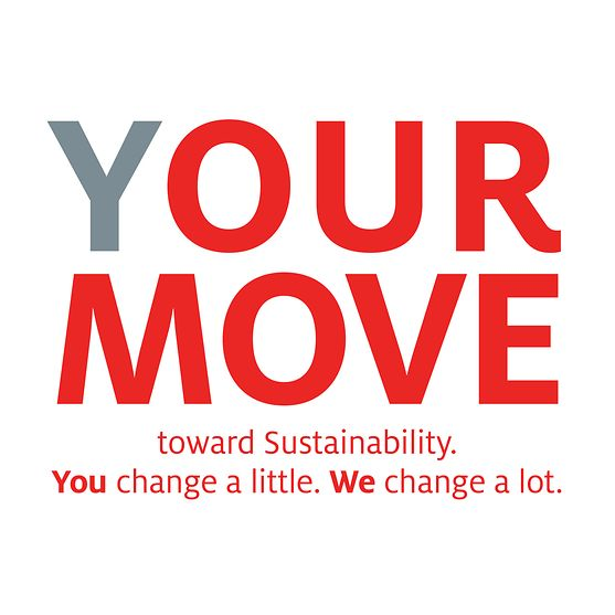 """Logo """"(Y)OUR MOVE toward Sustainability""""-Kampagne"""