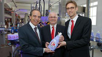 Günter Thumser, President, Henkel Central Eastern Europe (CEE), Alfred Smyrek, Plant Manager Vienna, Mattias Thraen, Production Steering CEE