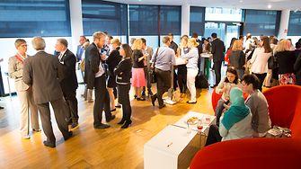 Die rund 100 Vertreter der Unternehmen tauschten sich über Interkulturalität im Unternehmen aus