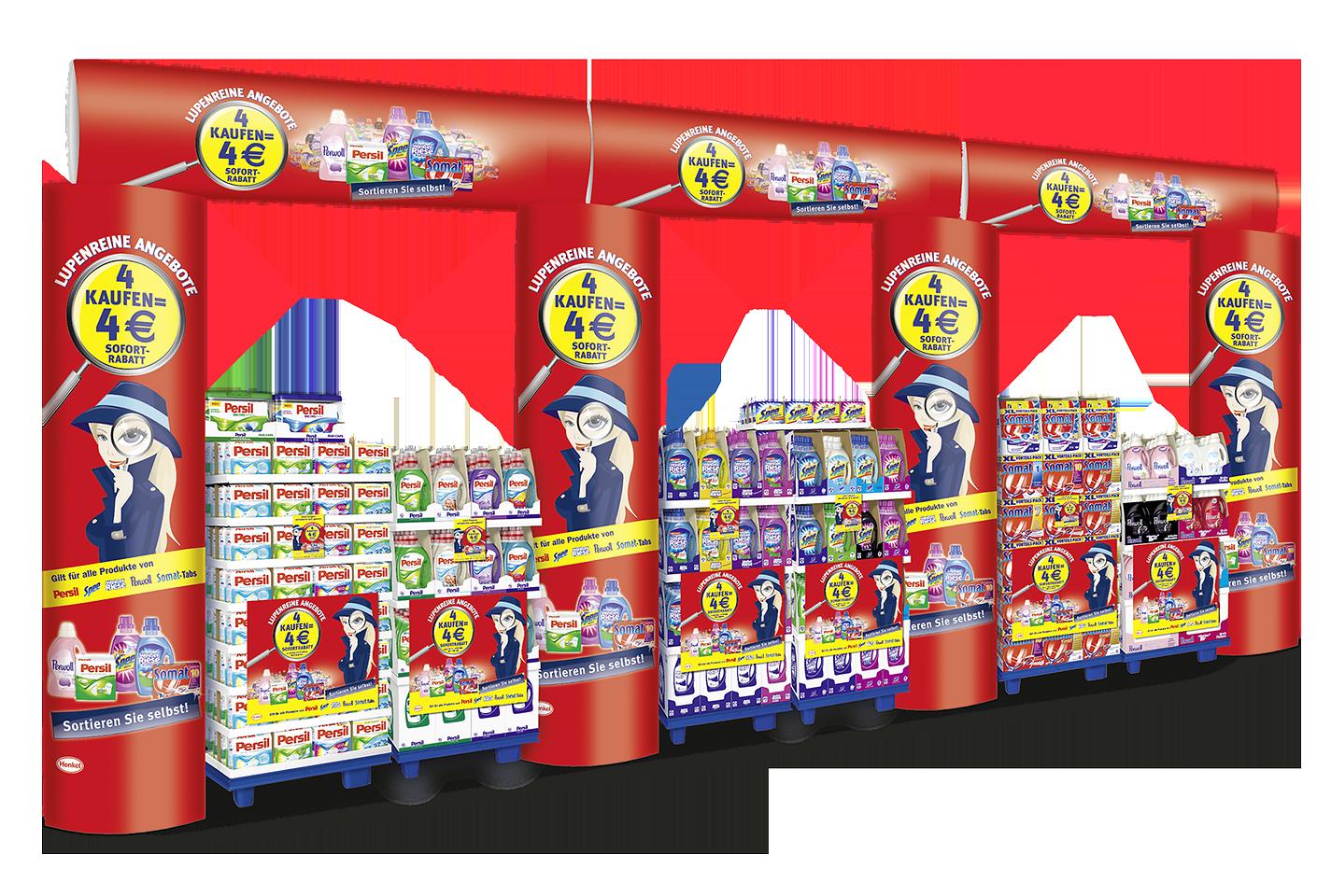 Der Rabatt-Coupon ist vom 25. August bis 28. September im teilnehmenden Handel an den Displays und Coupon-Blocks an den Waschmittel-Regalen erhältlich.