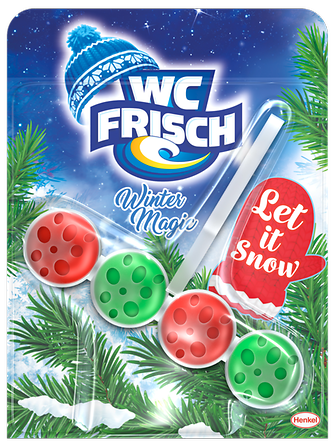 "WC Frisch Winter Magic Edition in der Variante ""Let it snow"""