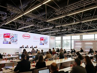 Annual results press conference at Henkel's headquarters in Düsseldorf
