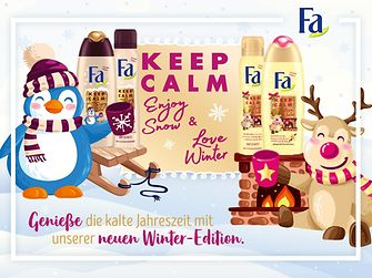 Fa Winter Limited Edition Keep Calm and Love Winter und Fa Keep Calm and Enjoy Snow